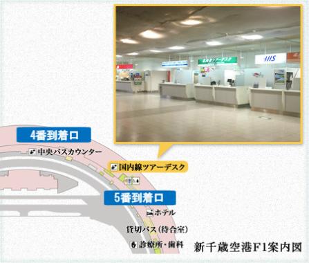 地図:集合場所(新千歳空港)